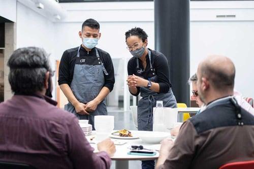 Alumnos del Culinary Institute of Barcelona en un Challenge