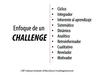 enfoque challenge, el modelo de evaluación educativa del Cuilnary Institute of Barcelona